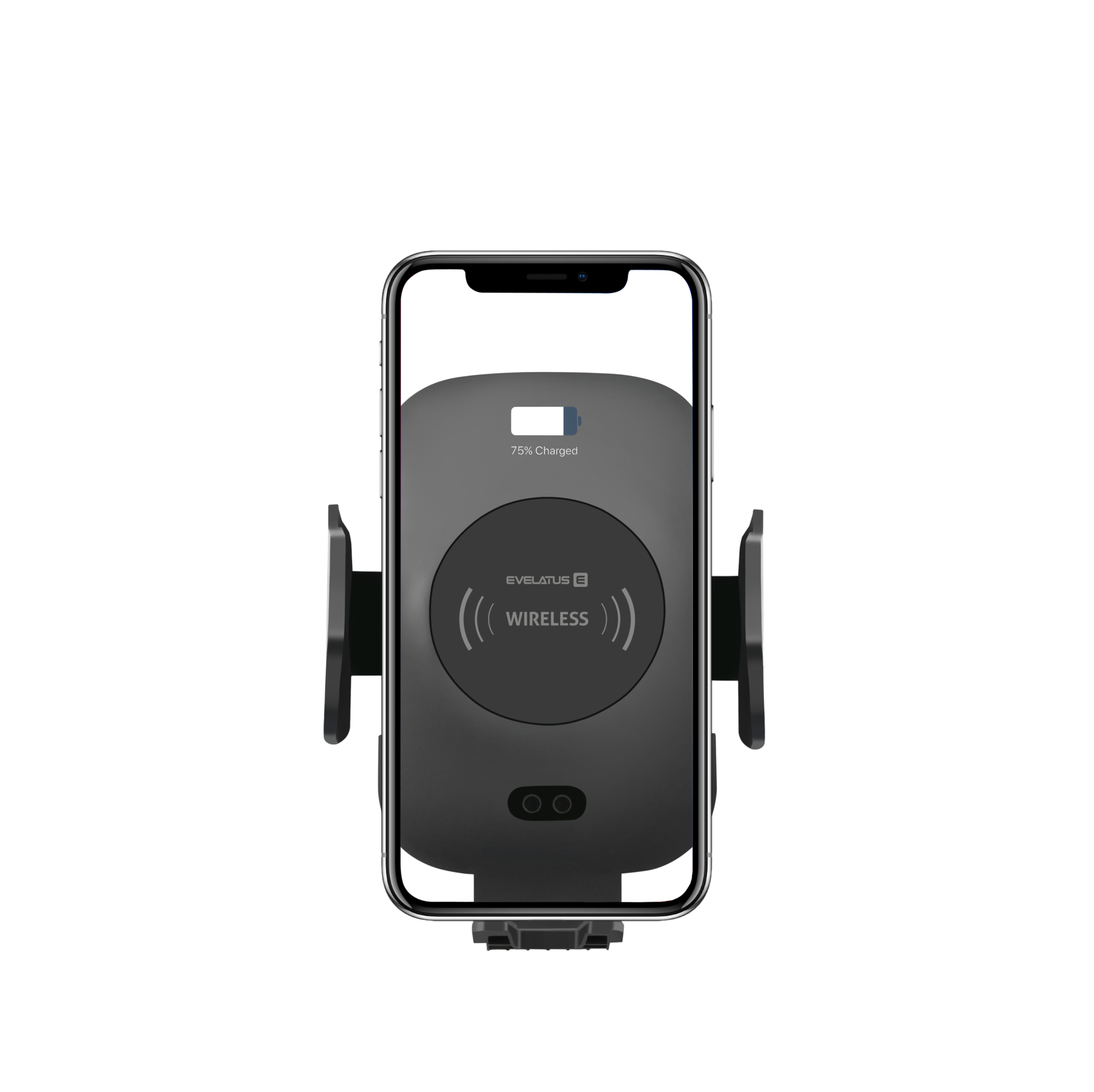 Evelatus Smartphone Car Holder with wireless Charging WCH01 - Black