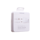 Samsung Charger + USB Cable Type-C, White, Fast Charge 15W, EP-TA20EWECGWW
