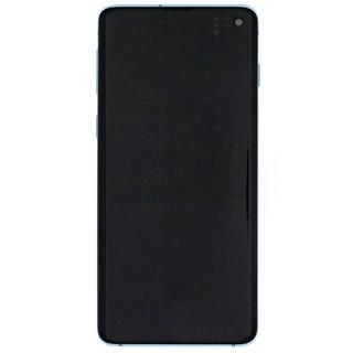 Samsung G973F Galaxy S10 LCD Display Modul, Prism Blue/Blau, GH82-18850C;GH82-18835C