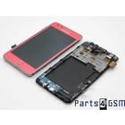 Samsung Galaxy S II i9100G Intern Beeldscherm + Touchpanel Glas, Digitizer + Frame Roze GH97-12354C4/4