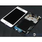 Samsung Galaxy S II i9100G Intern Beeldscherm + Touchpanel Glas, Digitizer + Frame Wit GH97-12354B4/4 [EOL]
