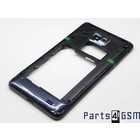 Samsung Galaxy S II Plus I9105 Middle Cover Zwart GH98-25681A