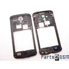 Samsung Middenbehuizing I9295 Galaxy S4 Active, Blauw, GH98-28008B