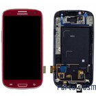 Samsung Galaxy S3 / S III i9300 Internal Screen + Digitizer Touch Panel Outer Glass + Frame Red GH97-13630C