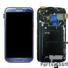 Samsung Galaxy Note II N7100 Lcd Display + Touchscreen + Frame Blauw GH97-14112E
