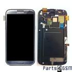 Samsung Galaxy Note II LTE N7105 Internal Screen + Digitizer Touch Panel Outer Glass + Frame Grey GH97-14114B
