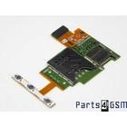 Sony Xperia J ST26i MicroSD + SIM Card Reader Connector Flex 1264-1977