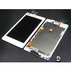 Sony Xperia L C2105 Interne Beeldscherm (LCD)+ Touchscreen + Frame Wit 78P5320002N