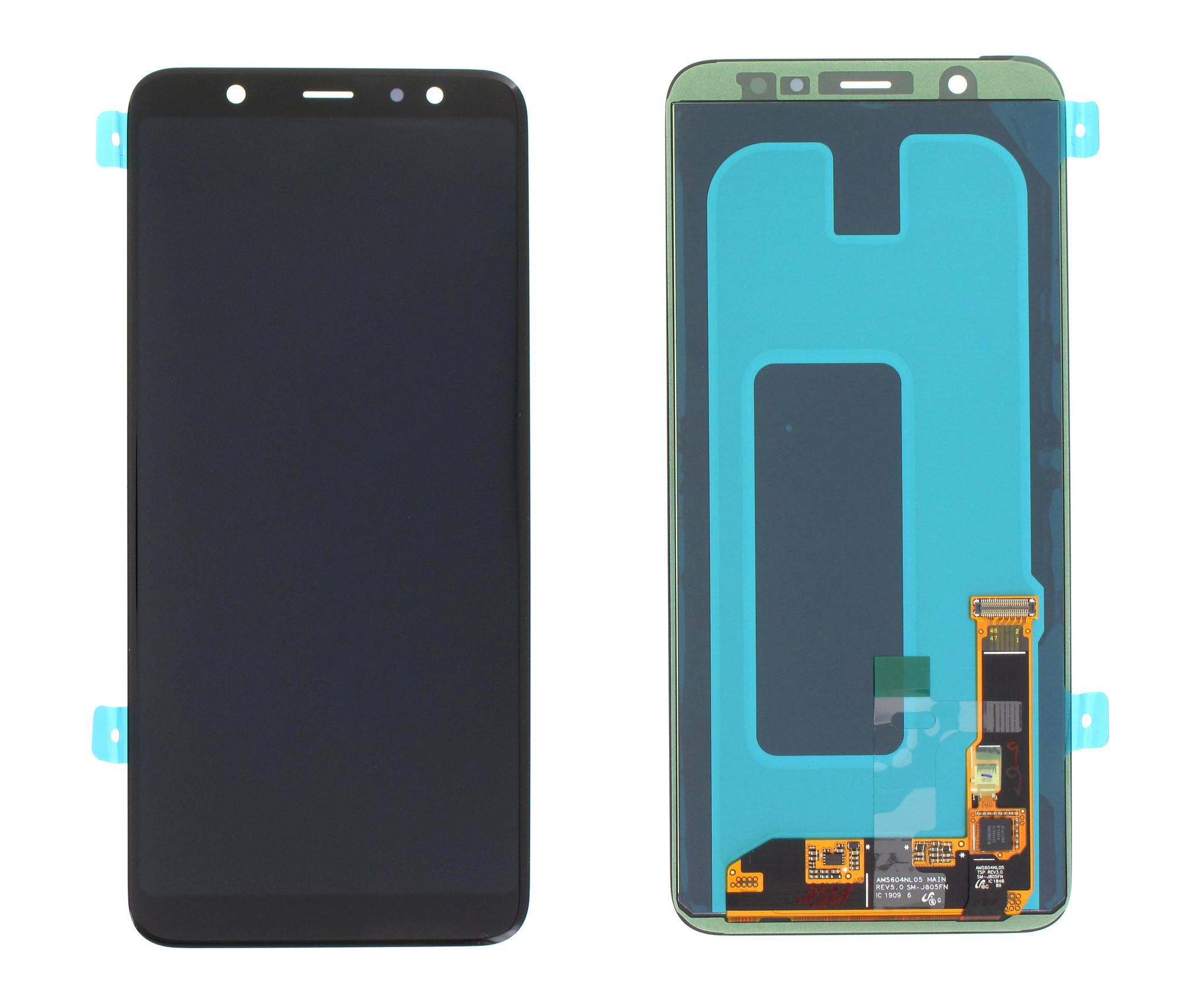 Samsung A605FN/DS Galaxy A6+ 2018 LCD Display Module, Zwart, GH97-21878A