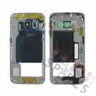 Samsung Mittel Gehäuse G925F Galaxy S6 Edge, Schwarz, GH96-08376A