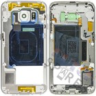 Samsung Mittel Gehäuse G925F Galaxy S6 Edge, Weiß, GH96-08376B
