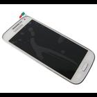 Samsung Galaxy S IV Mini / S4 Mini i9195 Interne Beeldscherm + Digitizer, Touchpanel Glas, Buitenvenster + Frame Wit GH97-14766B5/5