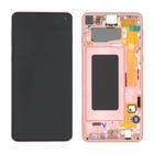 Samsung G973F Galaxy S10 LCD Display Modul, Flamingo Pink/Rosa, GH82-18850D;GH82-18835D
