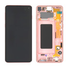 Samsung G973F Galaxy S10 LCD Display Module, Flamingo Pink/Roze, GH82-18850D;GH82-18835D