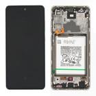 Samsung A725F Galaxy A72 4G Display + Battery, Awesome White, GH82-25542D;GH82-25541D