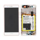 Huawei VNS-L31 P9 Lite Display + Batterie, Rosa, 02351BUG;02351LGQ