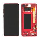 Samsung G975F Galaxy S10+ Display, Cardinal Red/Rood, GH82-18849H;GH82-18834H