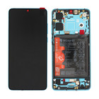 Huawei P30 New Edition (ELE-L29) Display + Batterij, Aurora Blue/Blauw, 02354HRH