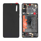 Huawei P30 New Edition (ELE-L29) Display + Batterij, Zwart, 02354HLT