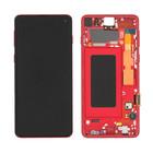 Samsung G973F Galaxy S10 Display, Cardinal Red/Rot, GH82-18850H;GH82-18835H