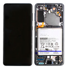 Samsung G991B Galaxy S21 5G Display + Batterij, Phantom Gray, GH82-24716A;GH82-24718A