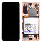 Samsung G991B Galaxy S21 5G Display + Battery, Phantom Violet, GH82-24716B;GH82-24718B