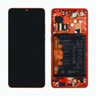 Huawei P30 Dual Sim (ELE-L29) Display, Amber Sunrise/Rot, Incl. Battery, 02352NLQ