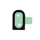 Samsung G525F Galaxy Xcover 5 Plak Sticker, Tape/Adhesive For Flashlight Lens, GH02-22434A