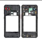 Samsung G525F Galaxy Xcover 5 Middenbehuizing, Zwart, GH98-46354A