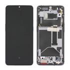 OnePlus 7T (HD1903) LCD Display, Zwart, Incl. frame, OP7T-LCD-IN-BL