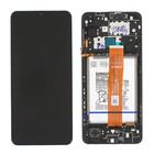 Samsung A125F Galaxy A12 Display + Battery, Black, GH82-24708A;GH82-24709A