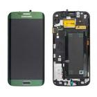 Samsung G925F Galaxy S6 Edge LCD Display Module, Green, GH97-17162E;GH97-17262E