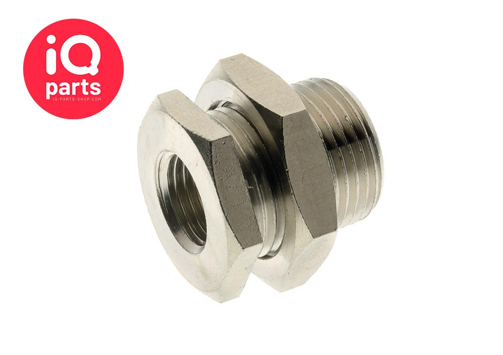 Nickel Plated Brass Bulkhead Connector BSP