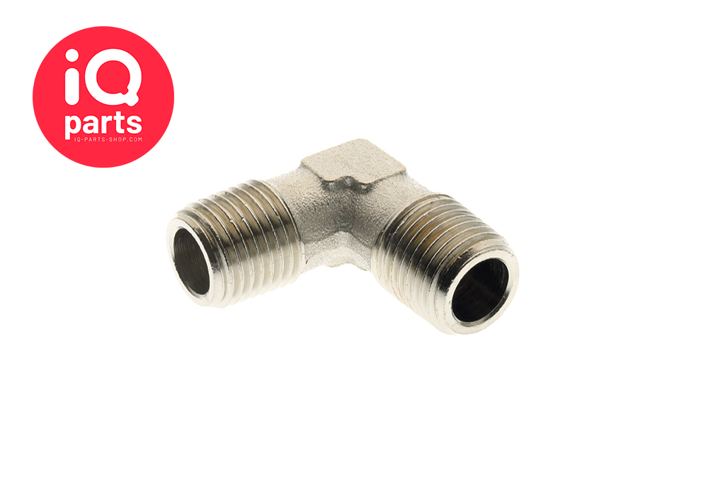 Nickel Plated Brass 90° Equal Elbows BSPT Male