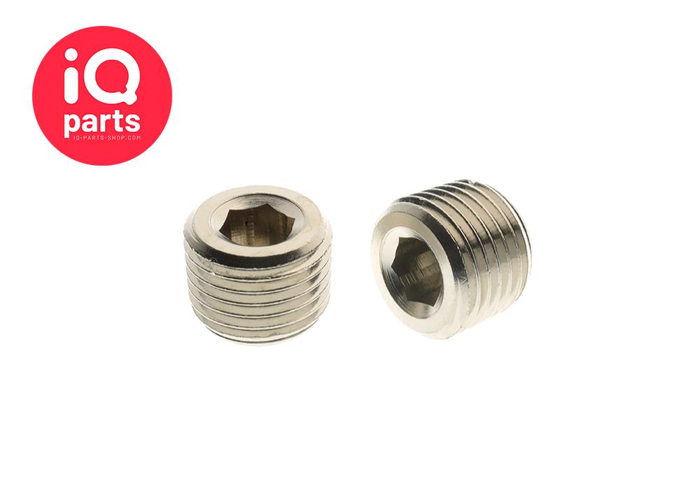 Nickel Plated Brass Plug BSPT