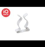 ABA ABA Tool clip - Witte Nylon coating, gesloten uitvoering W1