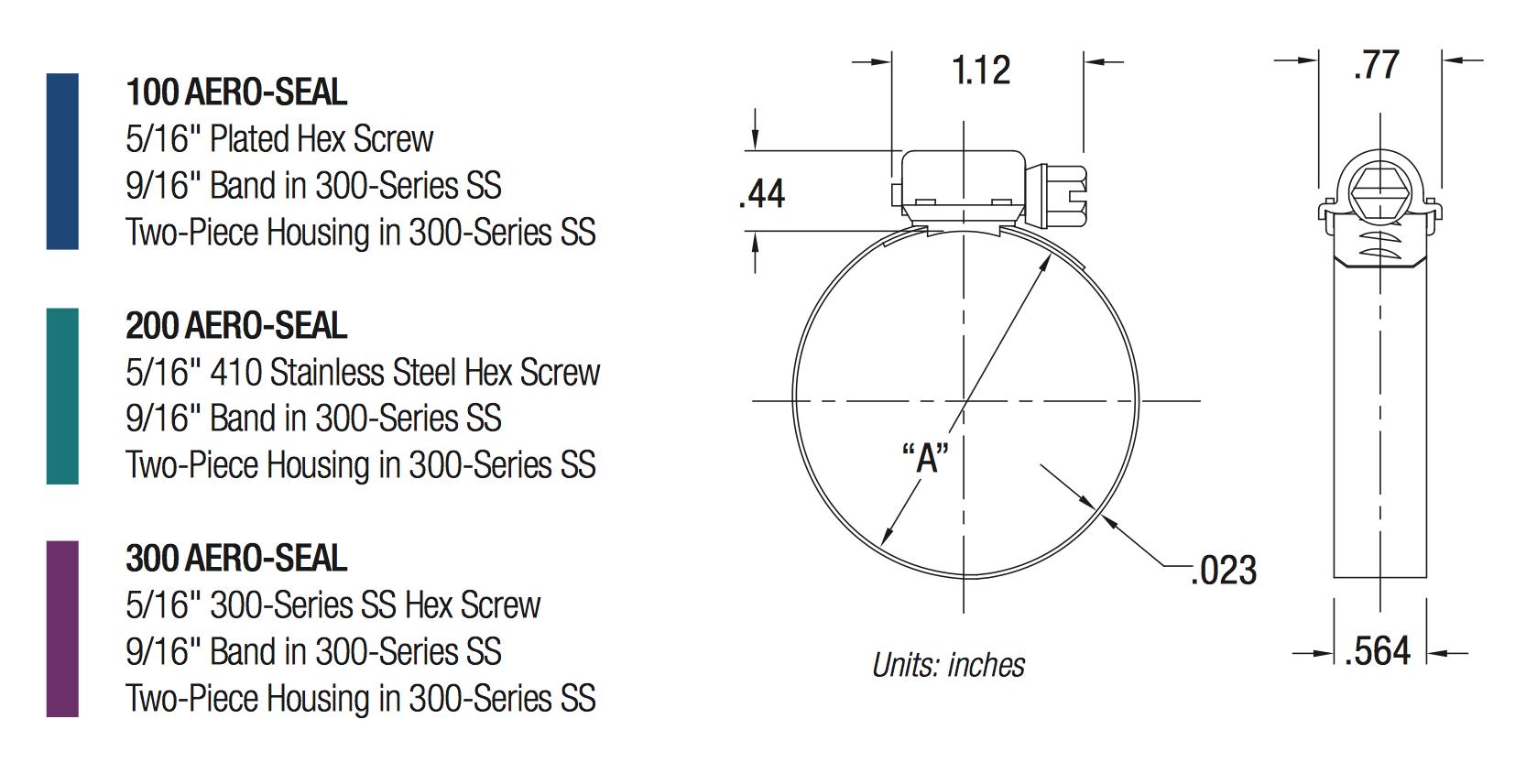Breeze Breeze Aero Seal 14,3 mm Breite W4 (S40) Schlauchschelle