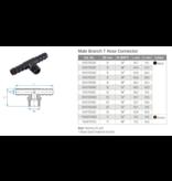 TEFEN TEFEN Kunststoff T-schlauchverbinder mit Außengewinde - Schwarz