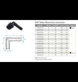 TEFEN Kunststoff Schlauchverbinder Winkel-Einschraubstutzen mit Außengewinde - Schwarz