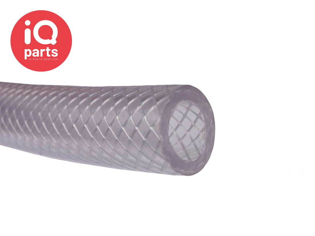 Transparante gewapende PVC slang per meter