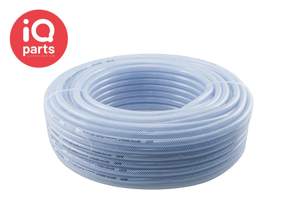 Transparante gewapende PVC slang op rol