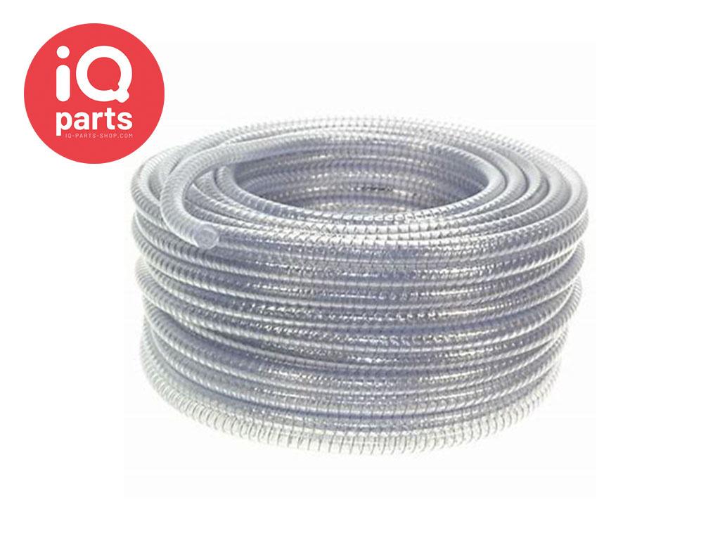 PVC Zuig-Pers-Vacuum slang met stalen spiraal op rol