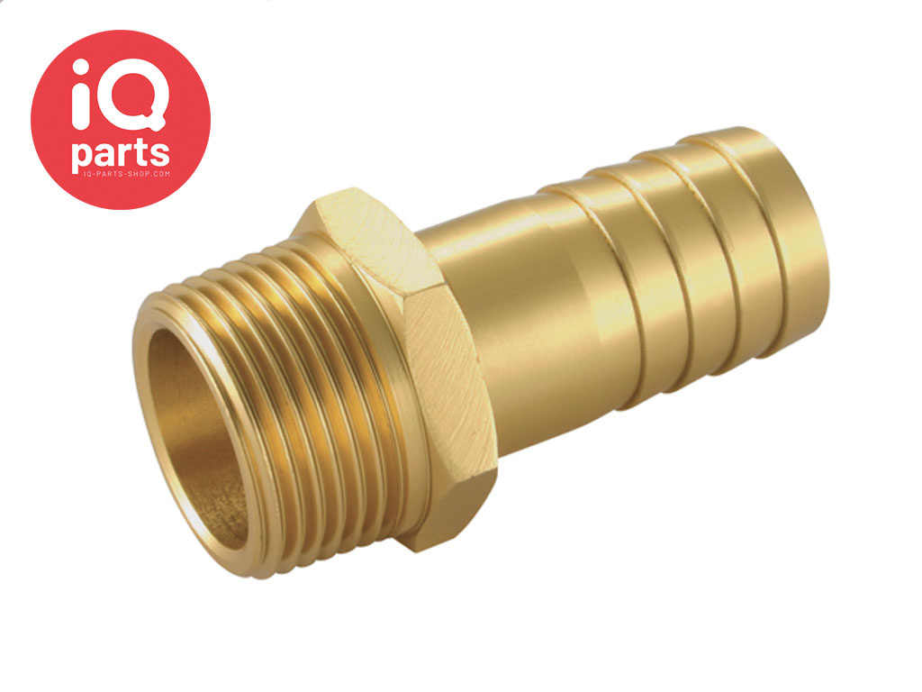 Aluminium hose connector with brass outer layer