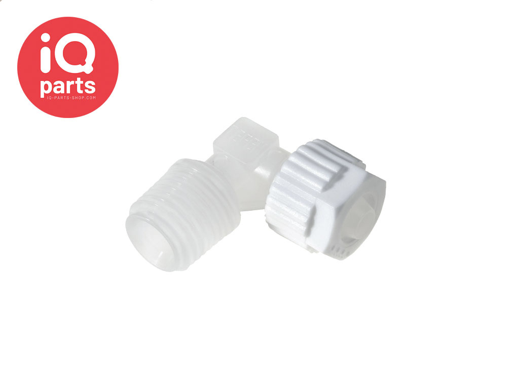 PVDF Elbow connector BSPT Male