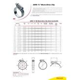 Mikalor Mikalor ASFA-L W2 - 9 mm hose clamp / Worm Drive Clip DIN 3017