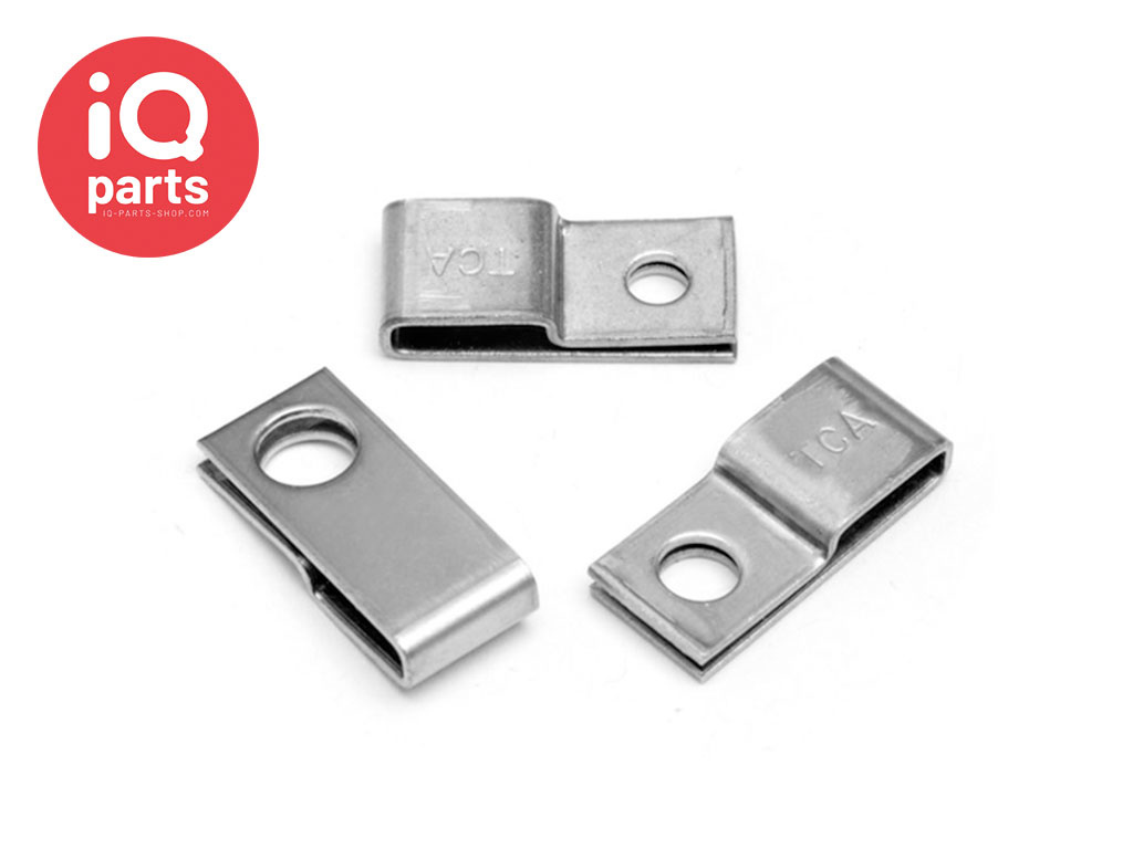 IQ-Parts RVS zadel beugel voor kabelbinders  - W5 (RVS 316)