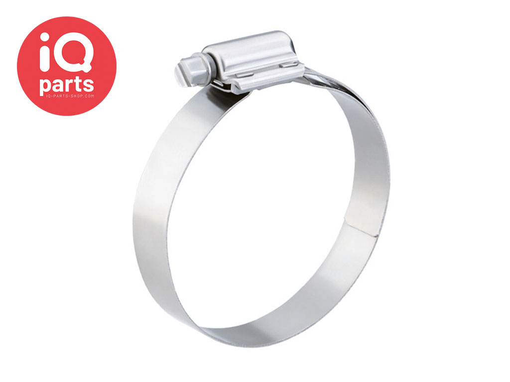 HTS High-Torque W5 (AISI 316) 16 mm width hose clamp / Worm Drive Clip