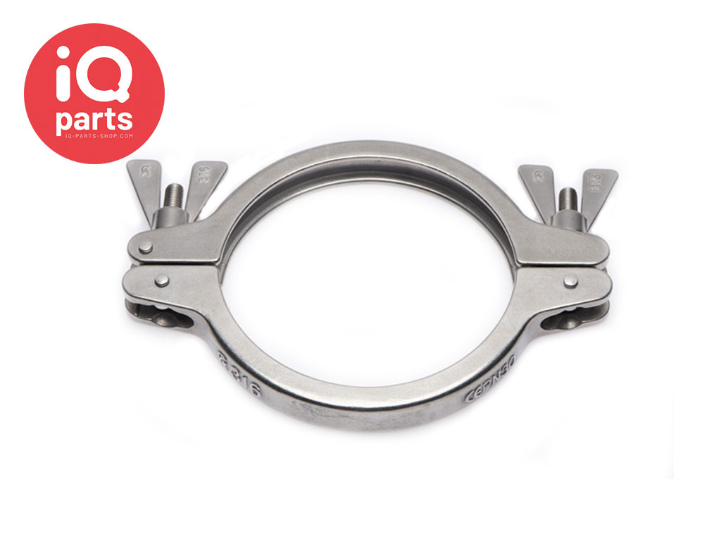 Tri-Clamp SH-Type Closure Clamp Double Bolted