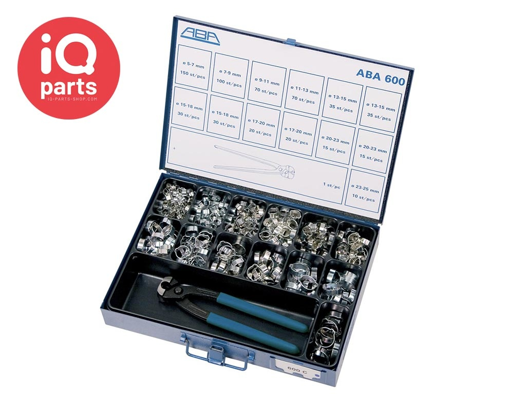 ABA Sortimentskästen ABA 600 2-ohr Schellen