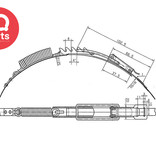 IQ-Parts Metall Zurrgurt / Bandschelle mit 5 Positionen und Spannfeder